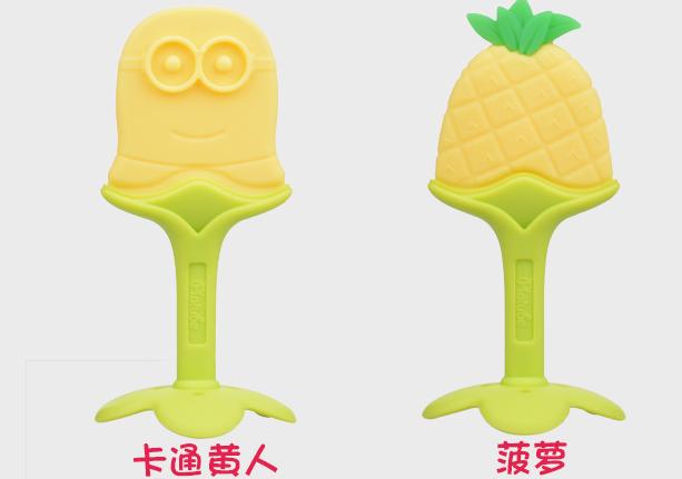 婴幼儿立体水果牙胶宝宝磨牙咬咬乐玩具儿童用品硅胶母婴产品
